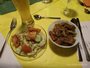 ドイツフッセンユーロパークホテル夕食
