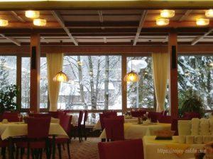 ドイツフッセンユーロパークホテル朝食会場
