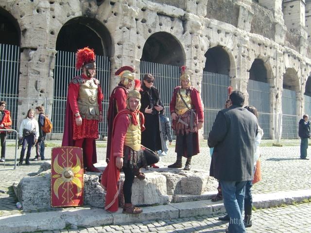 ローマ古代円形闘技場コロッセオ剣闘士